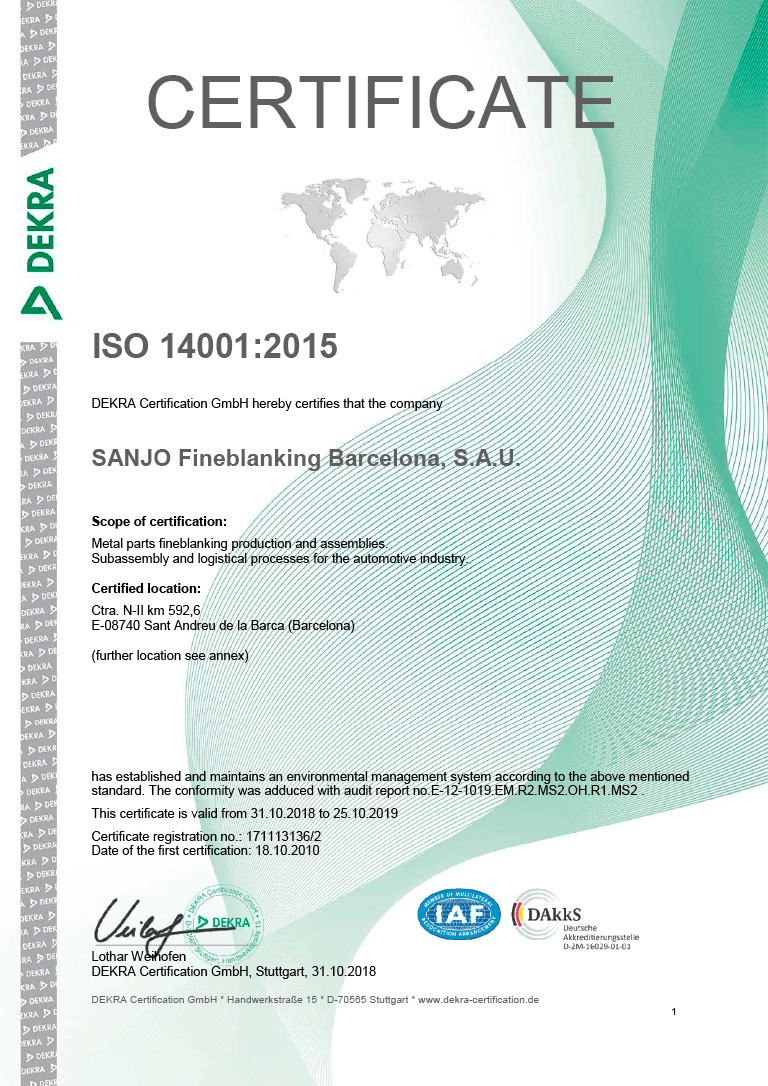 ISO 14001 – Environment