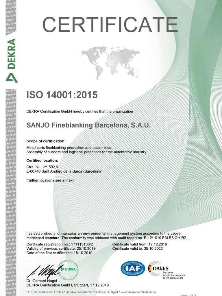 ISO14001 SANJO Página 1